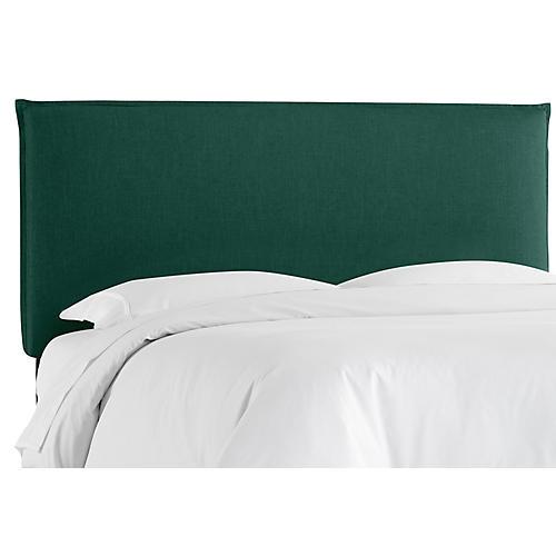 Frank Headboard, Green Linen