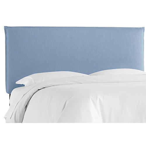 Frank Headboard, Light Blue Linen