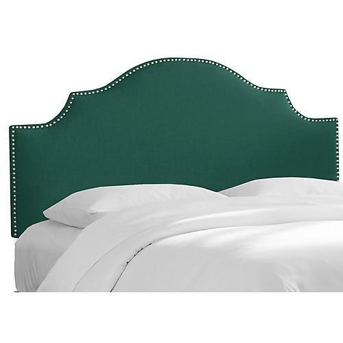 Miller Headboard, Green Linen