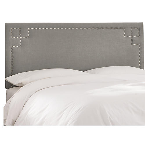 Aiden Headboard, Gray Linen