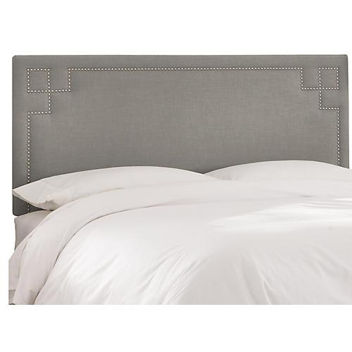 Aiden Headboard, Gray Linen
