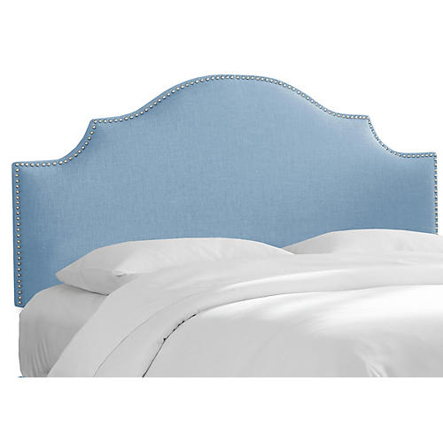 Miller Headboard, Light Blue Linen
