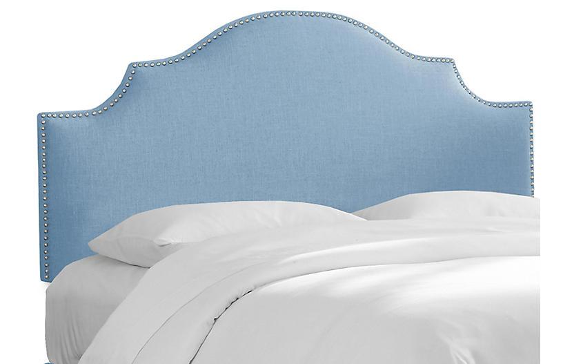Miller Headboard, Light Blue Linen