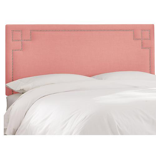 Aiden Headboard, Pink Linen
