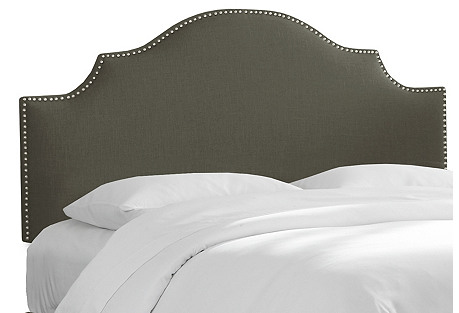 Miller Headboard, Slate Linen