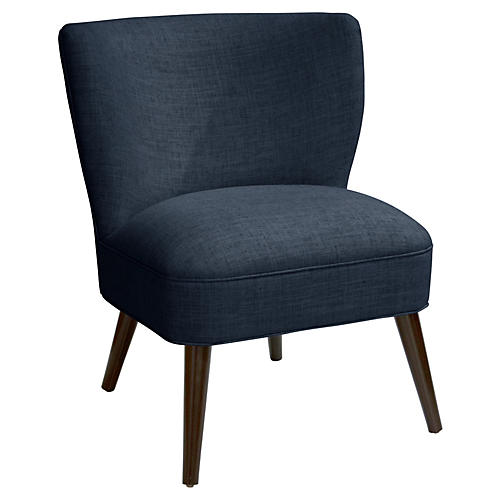 Bailey Accent Chair, Navy