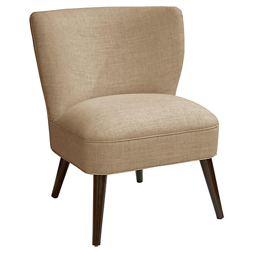 Bailey Accent Chair, Sand Linen