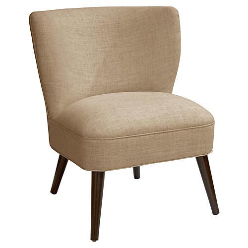 Bailey Accent Chair, Sand Linen