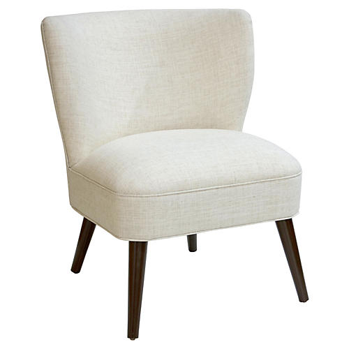 Bailey Accent Chair, Talc Linen