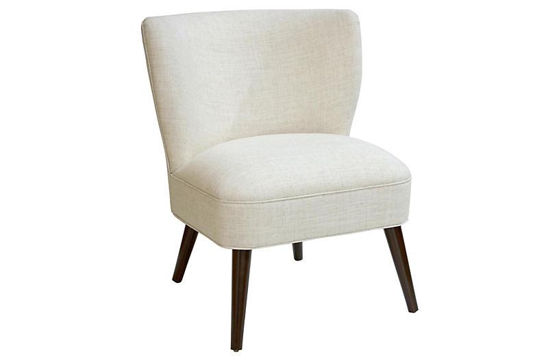 Bailey Accent Chair, Talc