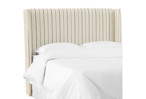 Kelly Wingback Headboard, Stripe