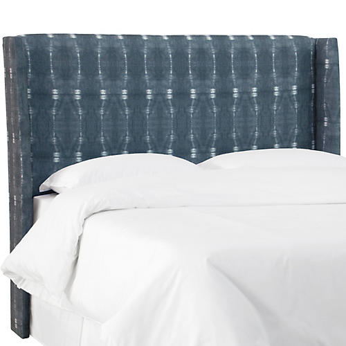 Kelly Wingback Headboard, Indigo