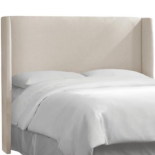 Kelly Wingback Headboard, Talc