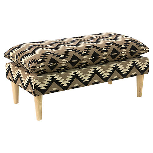 Eva Pillow-Top Bench, Aztec