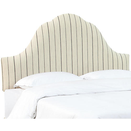 Emma Arched Headboard, Stripe