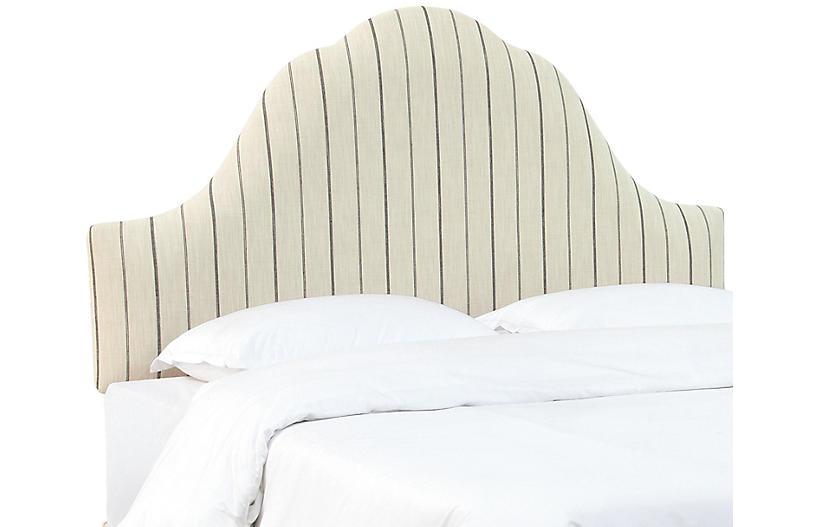 Emma Arched Headboard, Stripe