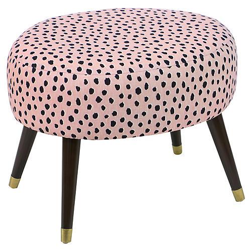 Dani Stool, Pink Polka Dots