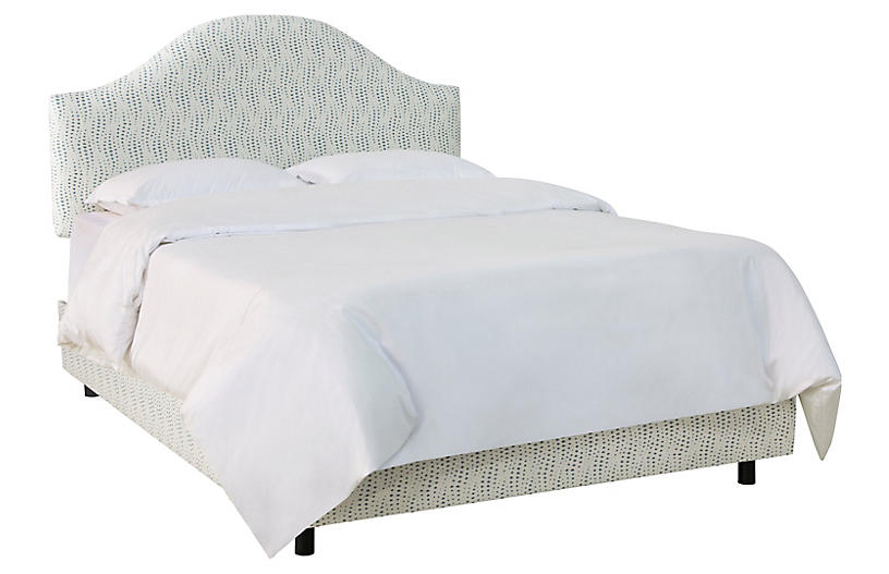 Libby Bed, Ivory/Blue