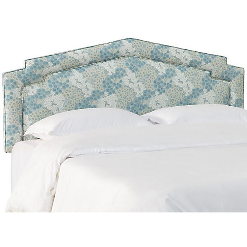 Nina Notched Headboard, Loiret Blue