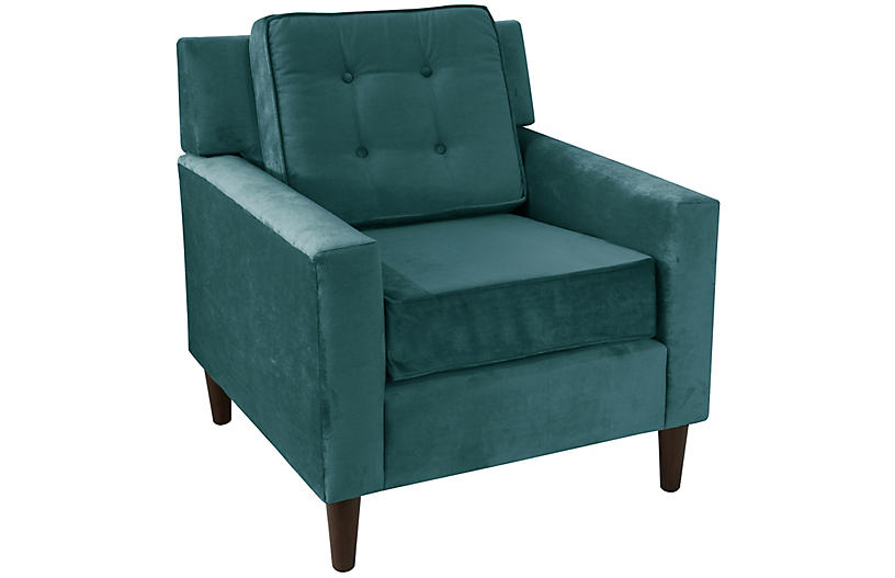 Winston Club Chair - Peacock Velvet