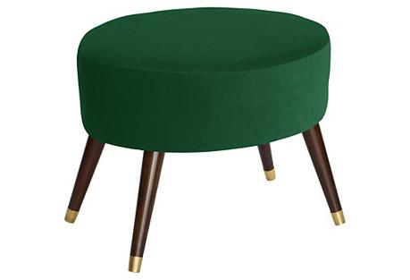 Dani Oval Ottoman, Fauxmo Emerald