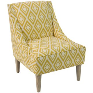 Quinn Swoop Arm Chair, Diamond Ikat   Accent Chairs   Chairs   Living Room    Furniture | One Kings Lane