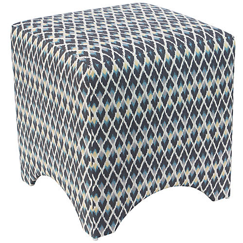 Ellery Cube Ottoman, Ace Posh Rain