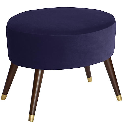 Dani Stool, Royal Blue Velvet