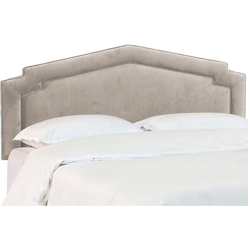 Nine Headboard, Gray Velvet
