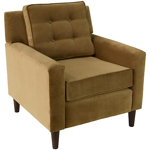 Winston Club Chair, Sand Velvet