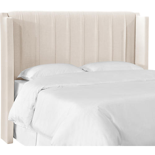Margo Wingback Headboard, Talc