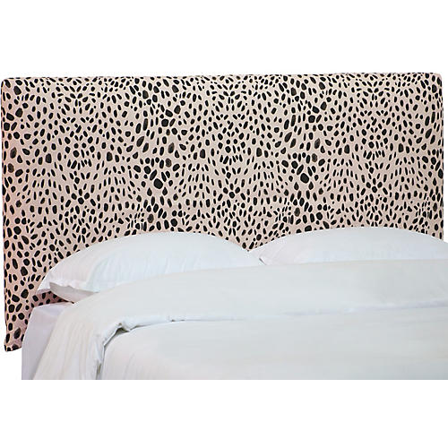 Winston Slipcover Headboard, Cheetah
