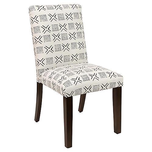 Shannon Side Chair, Cream Linen