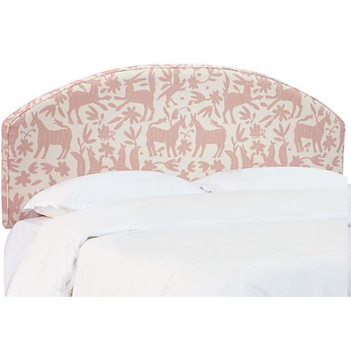 Sandie Curved Headboard, Pink/White