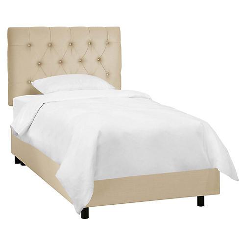 Thea Kids' Bed, Sandstone Linen