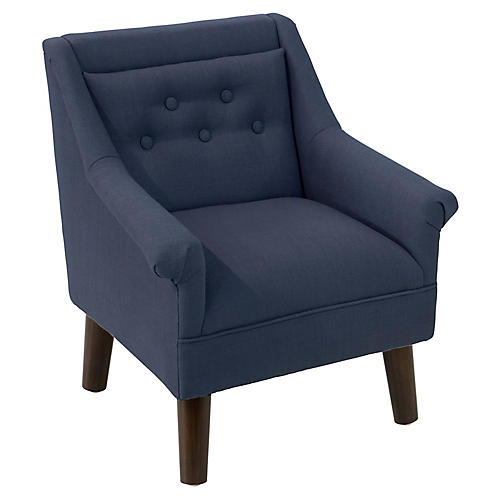 Bella Kids' Accent Chair, Navy