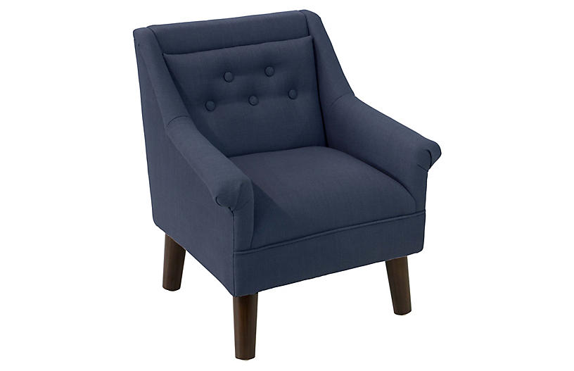 Bella Kids' Accent Chair, Navy
