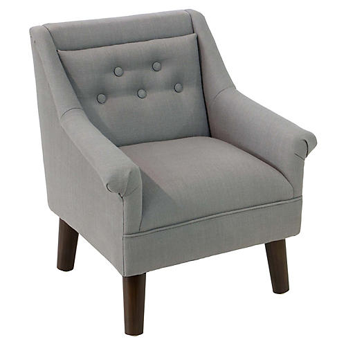 Bella Kids' Accent Chair, Gray