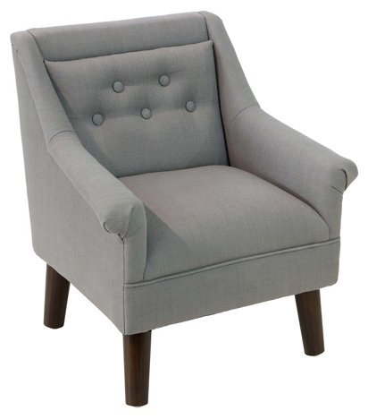 Bella Kids Accent Chair Gray One