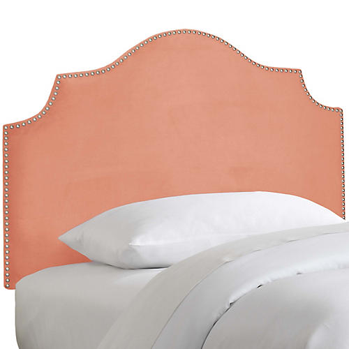 Miller Kids' Headboard, Papaya Velvet