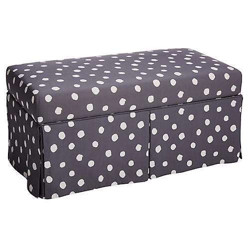Hayworth Kids' Storage Bench, Gray Linen