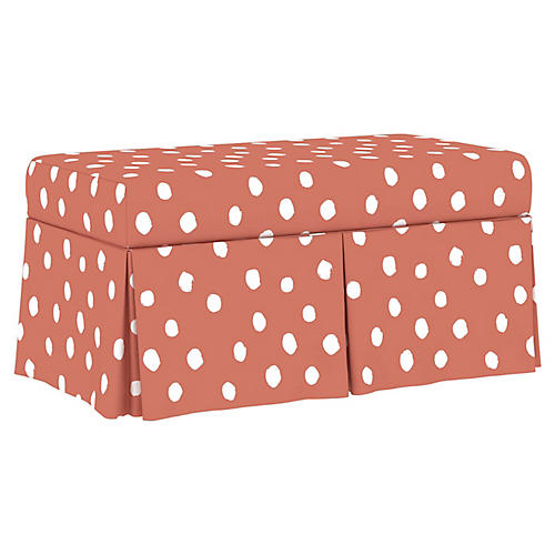 Hayworth Storage Bench, Pink Linen