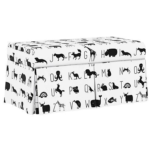 Hayworth Storage Bench, White Linen