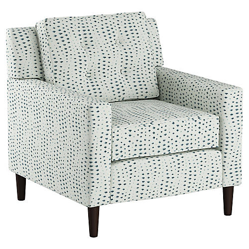Winston Club Chair, Blue