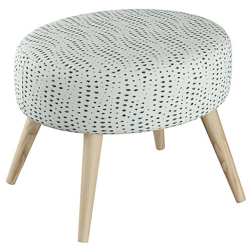 Dani Stool, Wavy Blue Dot