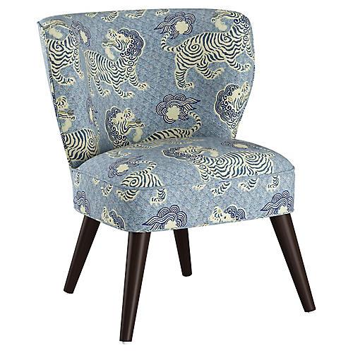 Bailey Accent Chair, Blue Lion
