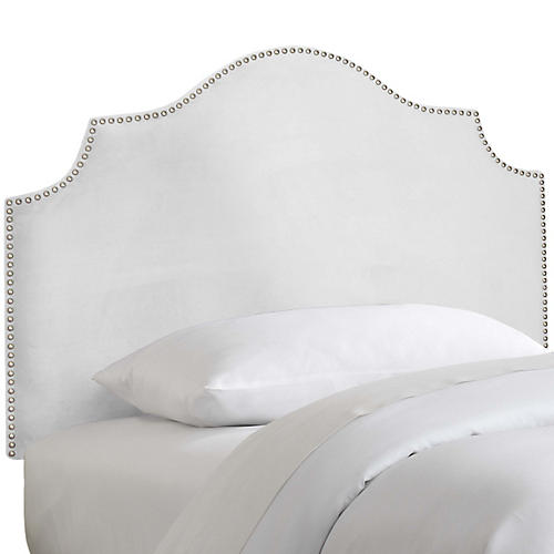 Miller Kids' Headboard, White Velvet
