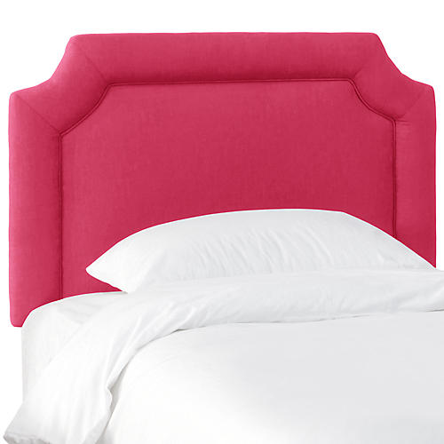 Morgan Kids' Headboard, Fuchsia Linen
