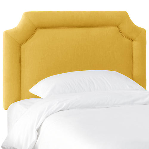 Morgan Kids' Headboard, Yellow Linen