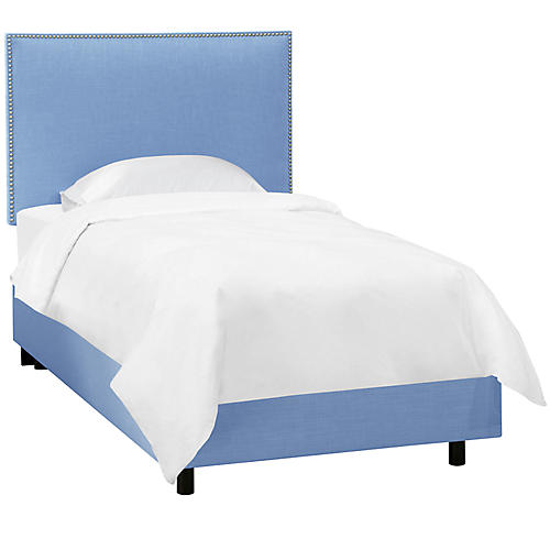 Loren Kids' Bed, French Blue Linen